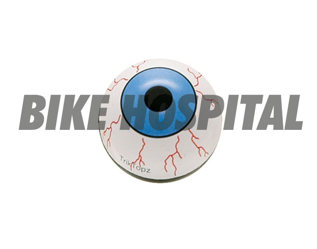 TRIK TOPZ,VALVE STEM CAPS EYEBALL BLUE 2
