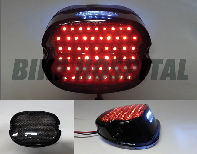 LED TAILLIGHT SMOKE LAYDOWN LENS 99-13